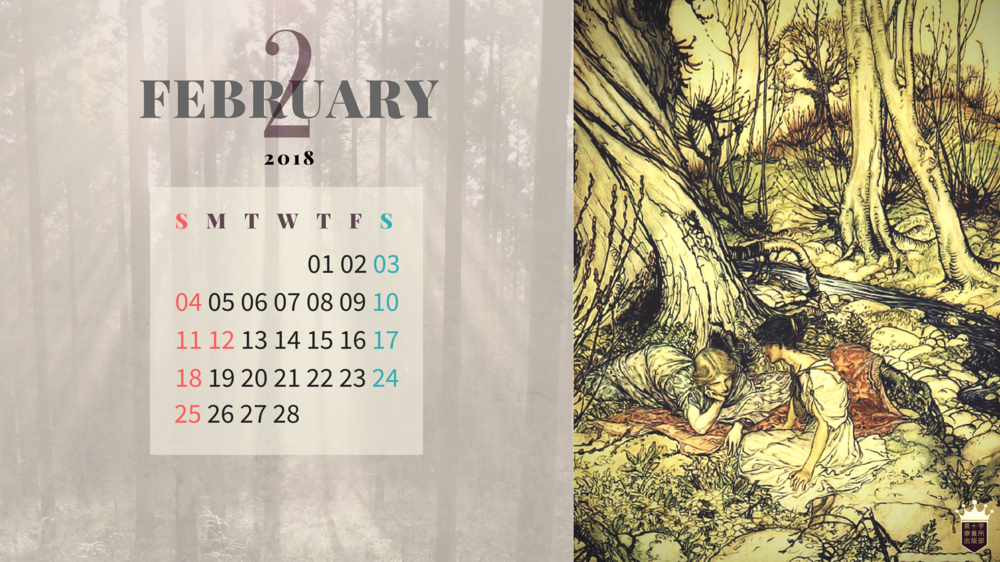 2018 Free Calendar Wallpaper fairy vintage1920px×1080px.png